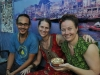 At the blue lassi shop with Claudia and Sascha