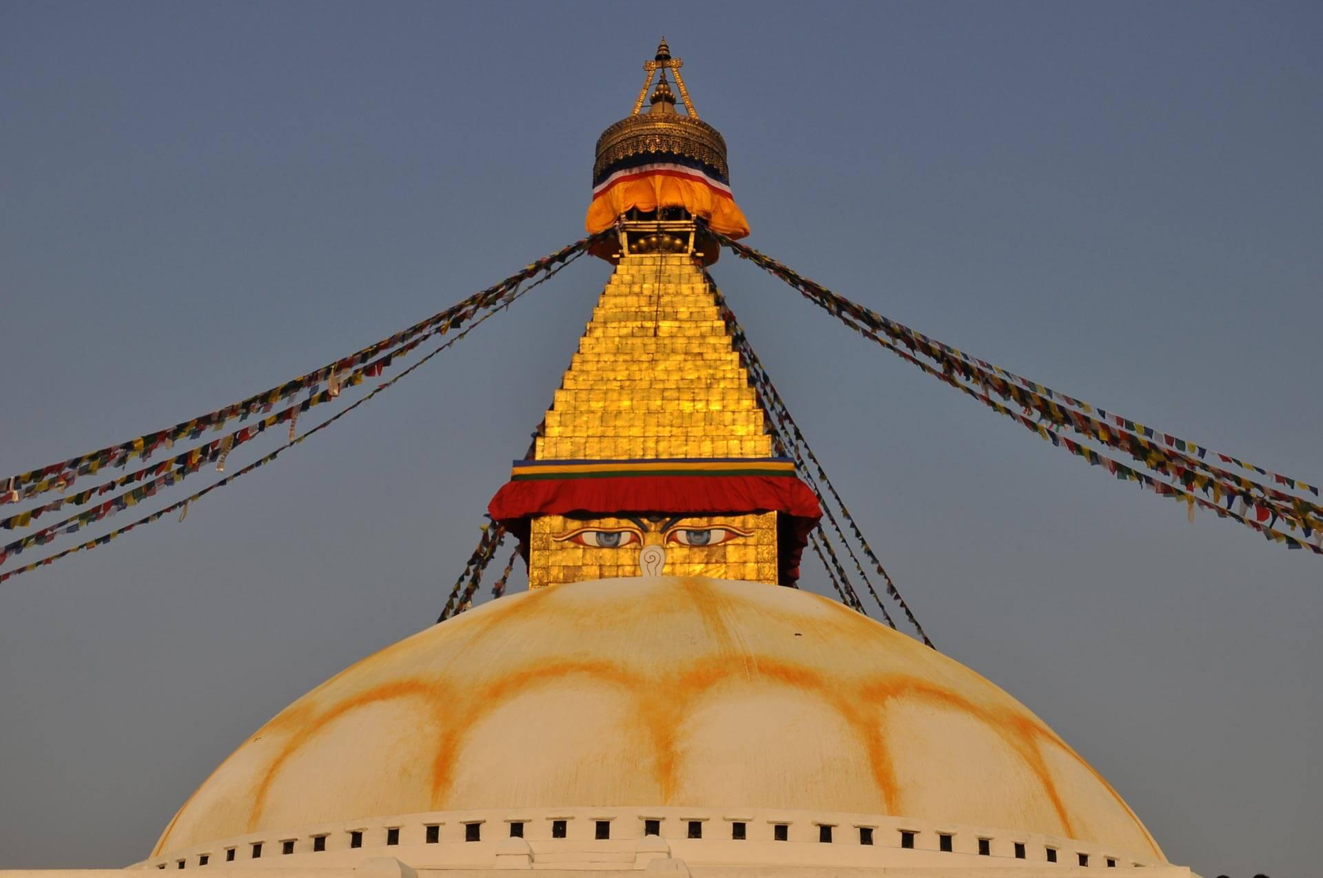 Goldene Tempel-Spitze